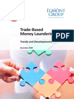 Trade Based Money Laundering Trends and Developments