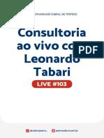 Live 103 - Consultoria ao vivo com Leonardo Tabari
