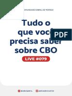 Live 079 - Tudo o que você precisa saber sobre CBO