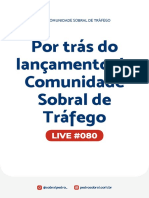 Live 080 - Por trás do lançamento da Comunidade Sobral de Tráfego