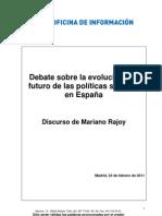 Mariano Rajoy Discurso Politicas Sociales