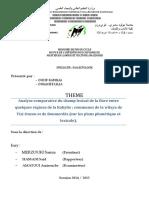 Analyse comparative du champ lexical de la flore régions Kabyle Tizi-Ouzou,Boumerdès