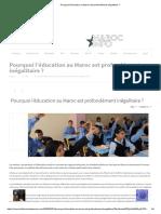 Pourquoi l'éducation au Maroc est profondément inégalitaire _