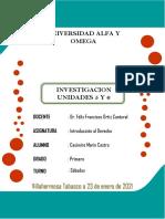 ACTIVIDAD 3 INVESTIGACION UNIDADES 5 Y 6