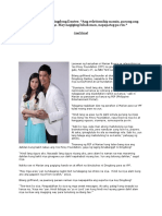 Marian Rivera on Dingdong Dantes