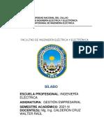 SILABO DE GESTION EMPRESARIAL  ELÉCTRICA 2021-N