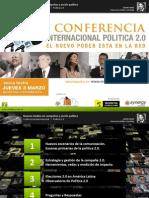 Conferencia Internacional Elecciones y Politica 2.0 - Lucas Lanza, Lima, Peru - Marzo 2011