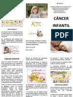 TRIPTICO CANCER INFANTIL 2019 NVO.