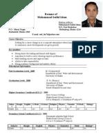 Resume of Mohammad Saiful Islam
