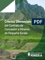 Cartilla Criterios de Diferencia Contra Concesion Mineros Peque Escala
