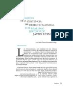 Los argumentos de la existencia del Derecho natural en el realismo jurídico de Javier Hervada - José Chávez-Fernández P.