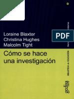 Cómo Se Hace Una Investigación - Loraine Blaxter 2000 - APOYO ESTUDIANTIL