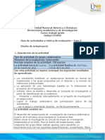 Guía de actividades y rúbrica de evaluación - Unidad 2 - Fase 3 - Diseño de anteproyecto