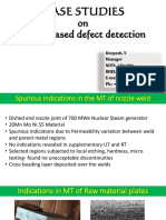 CASE STUDIES ON NDT BASED DEFECT DETECTION-Cource material-160817