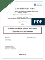Evaluation du système de gestion de la distribution