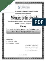LA GESTION DES CIRCUITS DE DISTRIBUTION