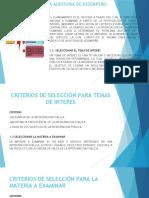 PLANIFICACIÓN DE AUDITORIA DE DESEMPEÑO