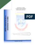 MODELO EDUCATIVO DE LA UNY 20-01-2021