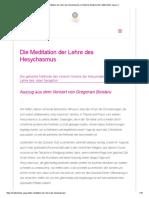 Die Meditation Der Lehre Des Hesychasmus _ Deutsche Akademie Für Traditionelles Yoga e.V
