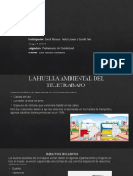 La Huella Ambiental Del Teletrabajo