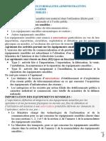 Module de formation / LES FORMALITES ADMINISTRATIVES PARTICULIERES EN ALGERIE