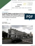 La deuda pública escala hasta el 117,1% del PIB en 2020, el mayor nivel desde la guerra de Cuba _ Economía _ EL PAÍS