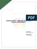 COMUNICACIÓN Y TÉCNICAS DE ESTUDIO PARA EL APRENDIZAJE