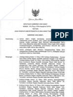 Keputusan Gubernur Jawa Barat No.561Kep.1564-Bangsos2010 tentang Upah Minimum KabupatenKota di Jawa Barat Tahun 2011