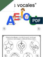 Conciencia Fonologica de Las Vocales Reconoce y Colorea
