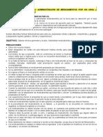 AO Nº 2. Administración de medicamentos VO e Inyecciones