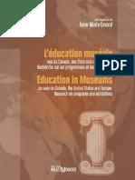 L'éducation muséale (vue du Canada, des Etats- Unis et d΄Europe_ Recherche sur les programmes et les expositions)