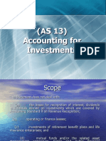 Accounting for Investments