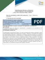 Guía de Actividades y Rúbrica de Evaluación - Unidad 1- Tarea 1 - Medición y Cinemática