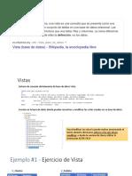 Clase de Base de Datos II - Vistas y Funcion Pivot