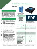 48V 100Ah LiFePO4 Battery Spec with com 2munication