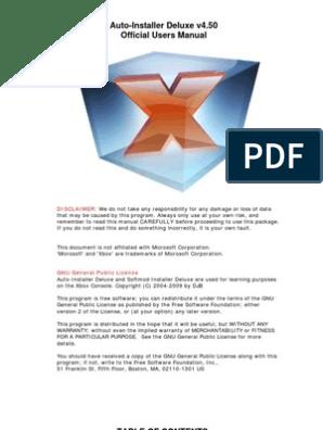 Auto-Installer Deluxe v4 50 Manual | Bios | Booting