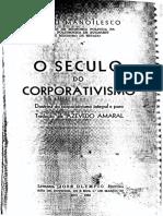 Manoilesco - Doutrina Do Corporativismo Integral e Puro