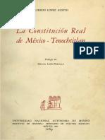 La constitucion real de mexico tenochtitlan