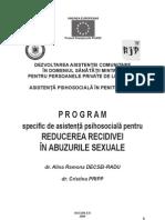 Reducerea Recidivei in Abuzurile Sexuale