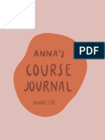 anna dongs honors 230 course journal