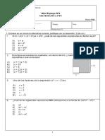 Mini Ensayo Nº4 ( Algebra )PTU