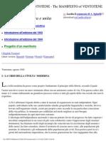 Altiero Spinelli, Ernesto Rossi - Il Manifesto Di Ventotene, per un'Europa libera e unita - 1941