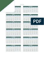 Calendario 2014 Turma 15