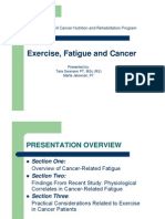 Swanson - Jelowicki - Exercise Fatigue and Cancer