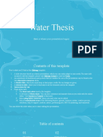 Water Thesis by Slidesgo