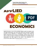 Applied Economics, m1 (Week 1 & 2)
