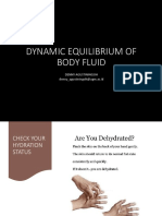 Dynamic equilibrium of the body fluids (2021)