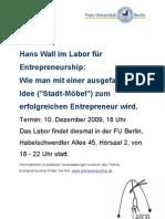 Labor mit Hans Wall