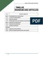 Chapter 12 Memorandum and articles