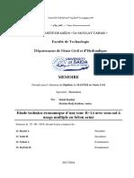 Etude Technico-économique d'Une Tour R+14 Avec Sous-sol à Usage Multiple en Béton Armé